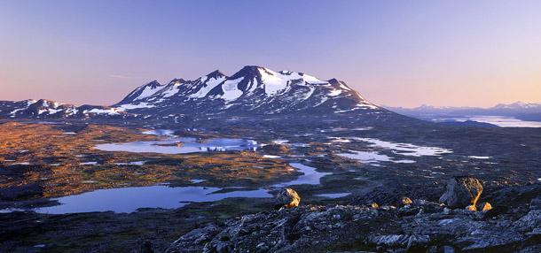 Mountain Ahkka in Laponia world heritage, 1998