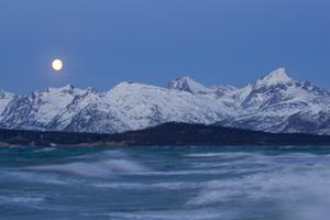 Storm and moon at Kvaløya, 2006